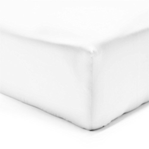 Drap housse - 100% coton - Blanc - 200 x 200 cm