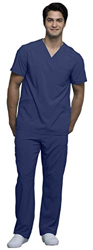Cherokee Infinity Men's V-Neck Scrub Top CK900A & Cargo Scrub Pant CK200A Medical Scrub Set -