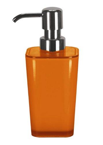 Kleine Wolke 5061 488 854 - Dispensador de loción y de jabón, plástico, 17,5 x 7 cm, color naranja