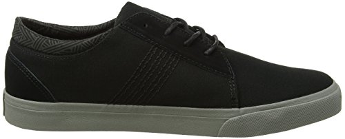Reef Ridge Cuir Baskets noir/gris