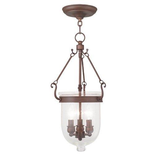 Livex Lighting 5083-70 Jefferson 3-Light Chain Hang, Vintage Bronze by Livex Lighting -