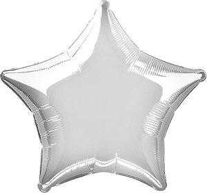 Unique Party53322–Globo de helio, diseño deestrella, 50cm, color plateada