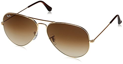 Ray-Ban Aviator Light Red sunglasses with Golden Frame (RB3026-62-14-138)  available at amazon for Rs.4500