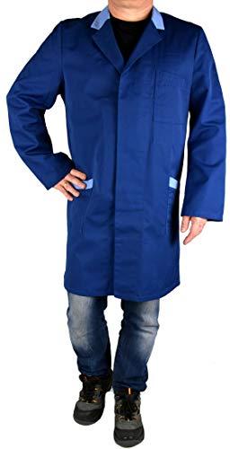 Iwea Stabiler Arbeitsmantel Berufsmantel Kittel Mantel Arbeitsbekleidung Workwear, Hellblau, 58 -