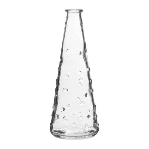 IKEA SNARTIG - Vase clear glass - 18 cm