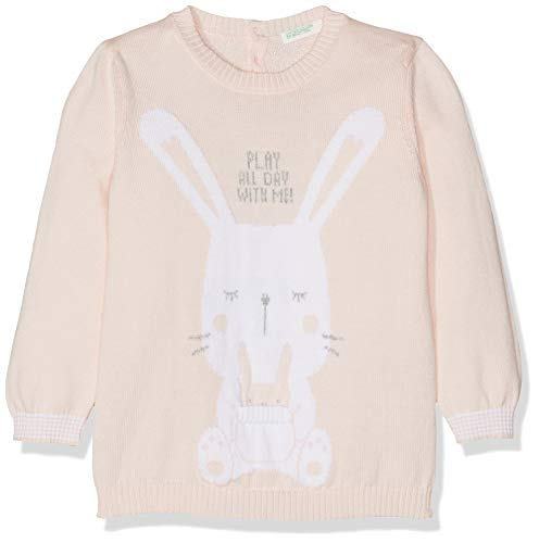 United Colors of Benetton Bebé-Niñas Sweater L/s Jersey Not Applicable, Rosa (Rosa...