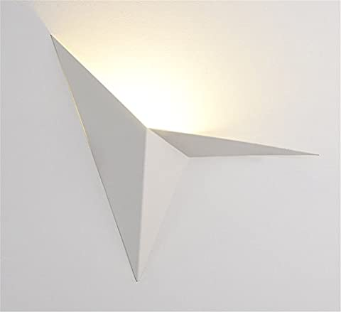 Moderne minimaliste LED papier grue forme fer mur lampe Creative chambre salle de séjour balcon escalier allée chevet Cafe mur lumière intérieur décoration bureau maison Decor personnalité,White