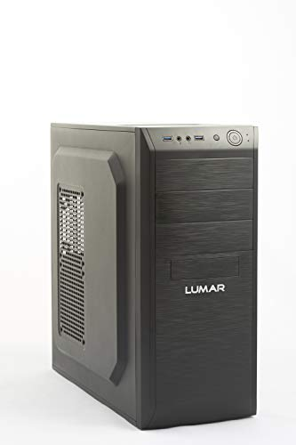 LUMAR Ordenador Gaming Sobremesa/Intel Core i7 8700 4,6GHz/16GB RAM DDR4/240GB + 3TB HDD/SSD/NVIDIA GTX 1050Ti 4GB/DVDRW/HDMI/USB 3.1/Windows 10 Pro Trial