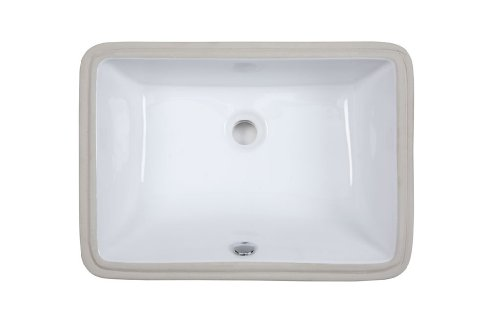 Xylem CUM183RWT Undermount Rectangular Vitreous China Sink, White, 18-Inch by Xylem