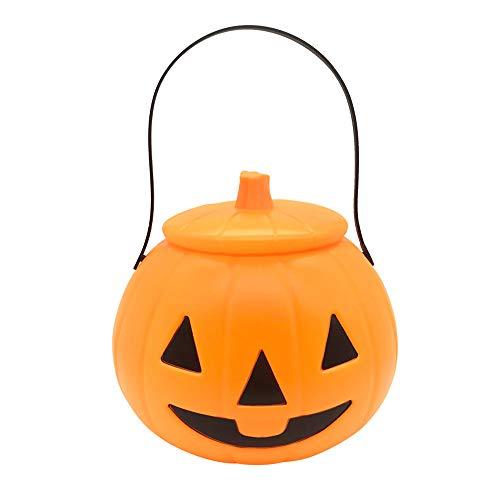 (Maske YN Halloween Kürbis Laterne Tragbare Glühende Abdeckung Candy Dosen Kind Kindergarten Kürbis Bar Bar Mall Dekoration)
