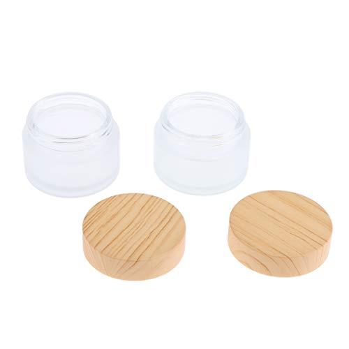 30 Feuchtigkeitscreme (Homyl 2 Stück Glastiegel Salbentiegel Cremetiegel Cremedose Lotion Container inkl. Schraubverschluss, Leer zum Selbst befüllen - 30g)