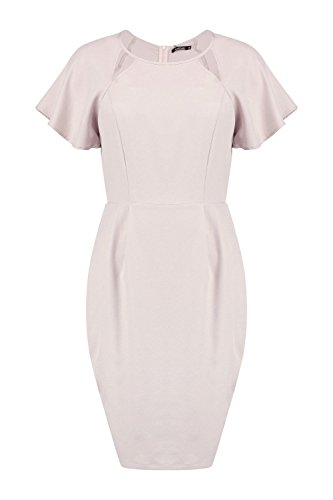 Femmes Mauve Ella Cut Out Short Sleeve Dress Mauve
