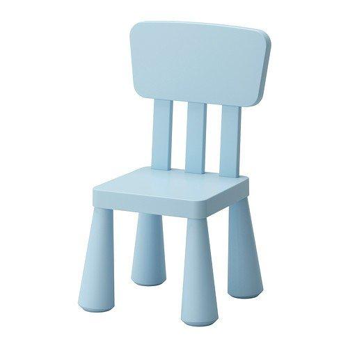 IKEA MAMMUT Kinderstuhl in hellblau