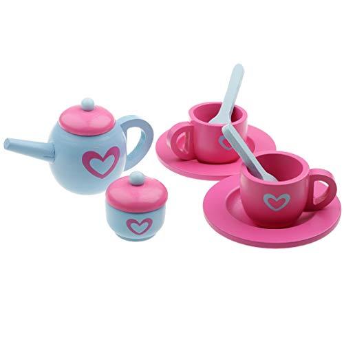 B Blesiya 10 in 1 Kaffeeservice Spielservice Teeparty Kindergeschirr Spiel für Kinder (10-zoll-löffel)
