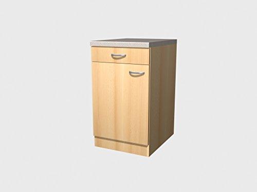 Küchen Unterschrank 50 cm Buche – Namu
