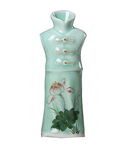 Vases Céladon Costumes, Ornements De Ménage En Céramique Peints à La Main, L'artisanat Céladon, Fleur Bleue Est,A