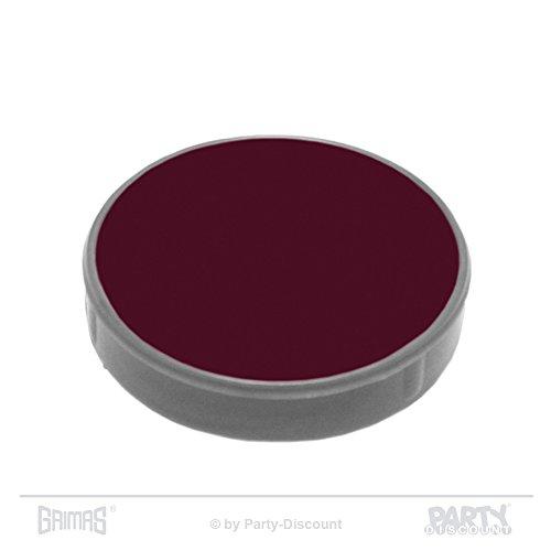 PARTY DISCOUNT Grimas Crème-Make-up Pure 15 ml, Farbe 504 - Bordeauxrot, Theaterschminke, Fettschminke, Theater-Make-Up, Top-Qualität