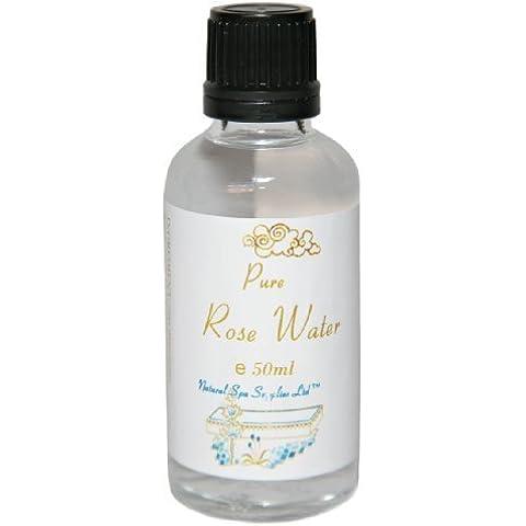 50ml Puro Orgánico Agua De Rosas Tónico Vapor Destilado en Frasco De Vidrio