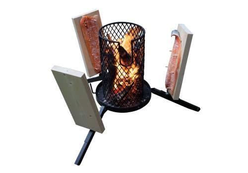 Flammlachs-Feuerkorb mit Zubehör