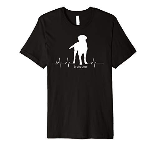 Broholmer Tshirt Frau Hund Geschenk Heartbeat Herz