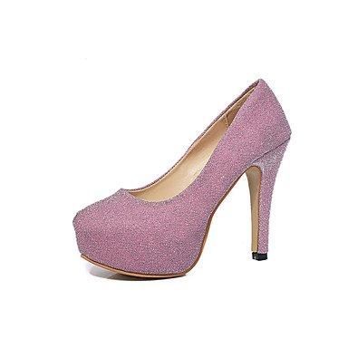 Wsx & Plm Womens-talons-formel Décontracté-confortable-a Stiletto-pu (polyuréthane) -noir Rose Argenté Rose