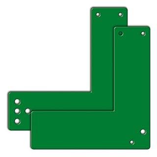 Zubehör für EH-Türwächter, Montageplatte grün für Glasrahmentüren