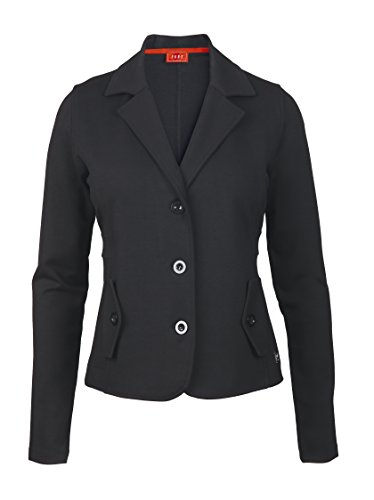 XFORE Damen Jersey Viscose Stretch Blazer, Cape Coral, in Schwarz, Größe M (Blazer Golf)