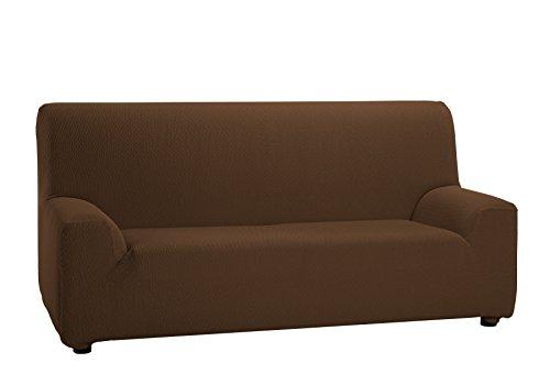 Martina home tunez copridivano elastico, tela (50% poliestere, 45% cotone, 5% elastan), marrone, 3 posti da 180 a 240 cm di larghezza