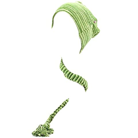 LOUDelephant 'Tinky Winky' cotton knit tail hat (Green Space