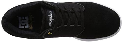 DC Men's Mikey Taylor Skate Shoe, Black/Gum, 10.5 M US Black/White/Gum