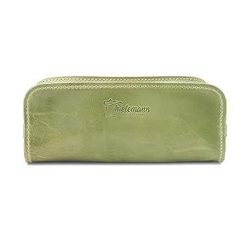 Made in Germany Schlampertasche – Stiftetasche AUSTIN aus Echtleder in grün ideal für Erstklässler von THIELEMANN