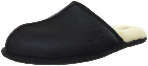 UGG Scuff Leather 1001546, Chaussons homme Noir black