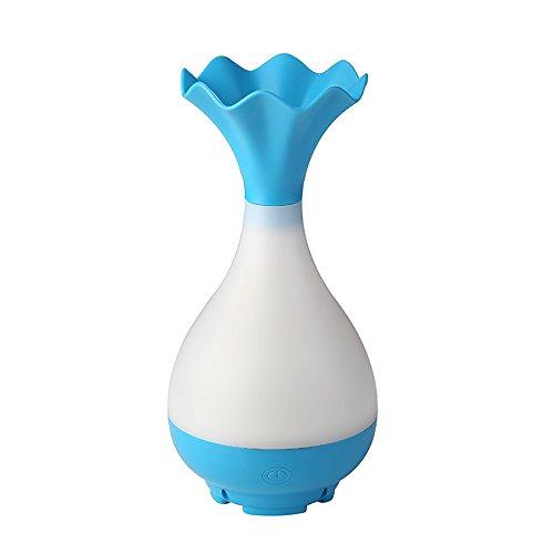 CDD Befeuchter Haushalt Mini-Vase Aromatherapie Mute Sprayer USB-Nachtlicht Zerstäuber Diffusor Gesundheit und Umweltschutz,Blue (Vase Diffusor)