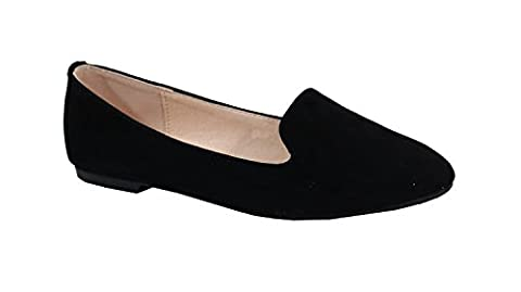 By Shoes - Ballerine Plate Style Suédine - Femme - Taille 39 - Black