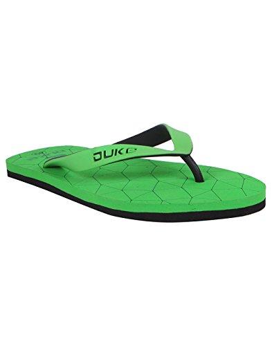Duke Men's Green & Black Coloured Eva Slippers 7  available at amazon for Rs.250