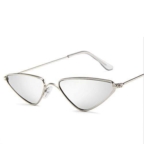 YOURSN Cat Eye Sonnenbrille Desinger Für DamenMode VintageSonnenbrilleMetallrahmen Herrenbrille Gelbe Brille Uv400-Silver