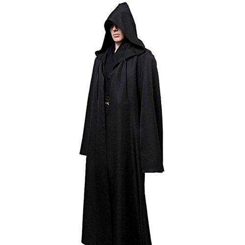 Herren Kapuzenmantel Umhang Knight Fancy Cool Cosplay Kostüm Gr. S, schwarz - ()