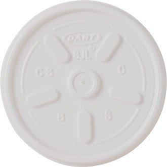 Couvercle Ventilé jetables PS à installer en mousse Blanc Tasse - Tasse 200 ml (Pack 1000) - Idéal pour les fêtes, les barbecues, les pique-niques et les événements