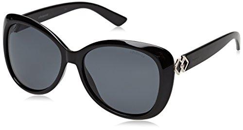 Polaroid pld 4050/s m9 807 58, occhiali da sole donna, nero (black/grey pz)