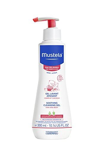 Mustela Stelaprotect Gel de Baño Confort Piel Intolerante Cuerpo y Cabello, 300ml