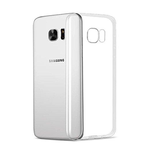 X-Dision Cas Transparent pour Samsung Galaxy S6 Edge Plus, Absorption Flexible de Choc Shell de Silicone de TPU, Housse de Protection Supérieure Légère et Anti-Rayures Économique et Pratique