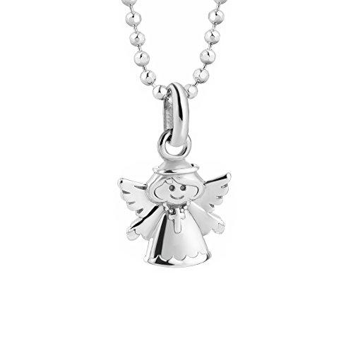 butterfly Mädchen Silberkette Sterling-Silber 925 Engel-Anhänger Schutzengel Glücksbringer Längen-verstellbar Geschenkverpackung Kommunion Geschenk