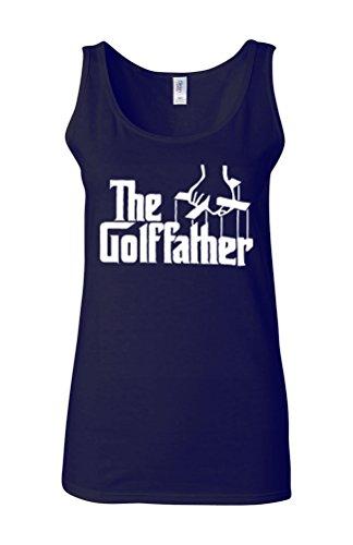 The Golf Father Funny Parody Novelty White Femme Women Tricot de Corps Tank Top Vest Bleu Foncé