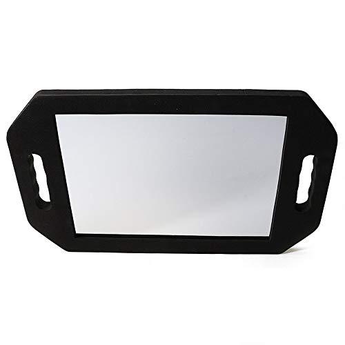 Hzydjz specchio quadrato 41 * 25 cm antiurto spugna nera specchio rettangolare specchio per trucco da parete parrucchiere salone specchietto retrovisore specchietto retrovisore