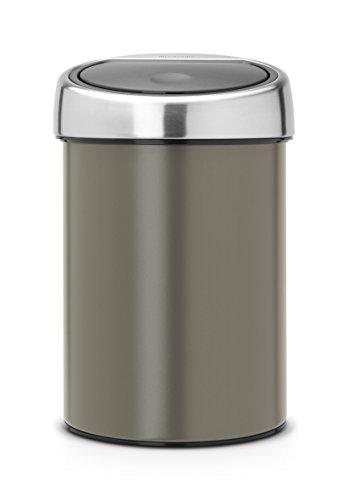 Touch Bin 3 L mit Kunststoffeinsatz / Platinum -