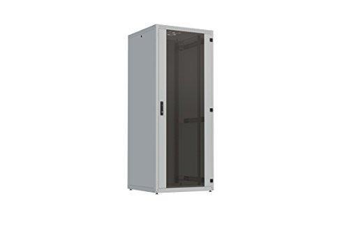 19 zoll Serverschrank, Frei stehende IT Schrank 4X, 42 HE, Breite 800mm, Tiefe 1000mm, Traglast 500kg, RAL7035