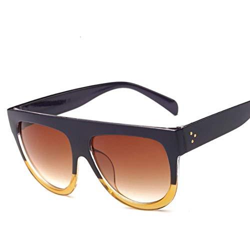 Sport Outdoor-Produkte / Persönlichkeit Sonnenbril Flat Top Übergroße quadratische Sonnenbrille Frauen Farbverlauf Sommer Stil Klassische Frauen Sonnenbrille Große quadratische Brillen ( Color : 10 )