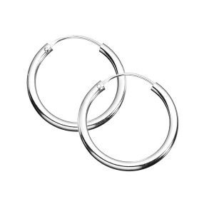 Sterling Silver 925 Pair Of Hoop Sleeper Earrings -Size 8,10,12,14,16,18,20,25,30,40,50,60,70,80,90,100,110 MM : everything five pounds (or less!)