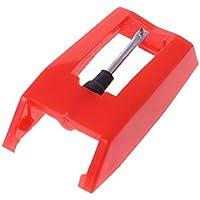 SimpleLife Diamantspitze Nadel-Plattenspieler Ersatz Plattenspieler Nadeln Stylus Nadeln Schallplatte Zubehör (Rot)