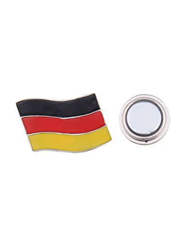 Leslii Magnet-Pin Anstecker Brosche Deutschland Fahne Flagge Deutschland-Pin Germany Modeschmuck Größe 2cm x 3cm in Schwarz Rot Gold